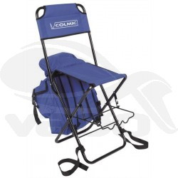Folding seat with holdall and pole rest
