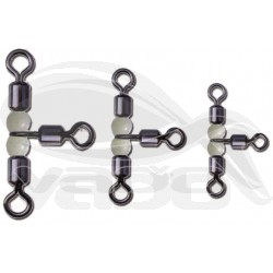 Rolling swivel with pearl beads