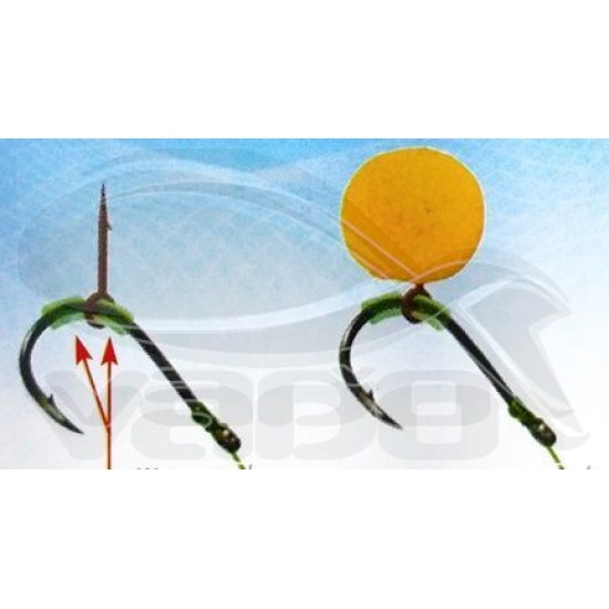 Silicone fastened bait sting