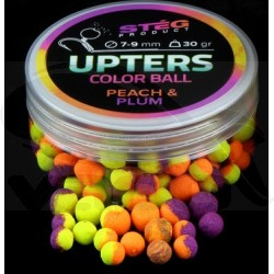 Upters collor ball 7-9mm Peach & Plum